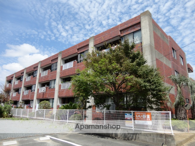 静岡県浜松市中区、浜松駅遠鉄バスバス25分小豆餅下車後徒歩3分の築28年 3階建の賃貸マンション