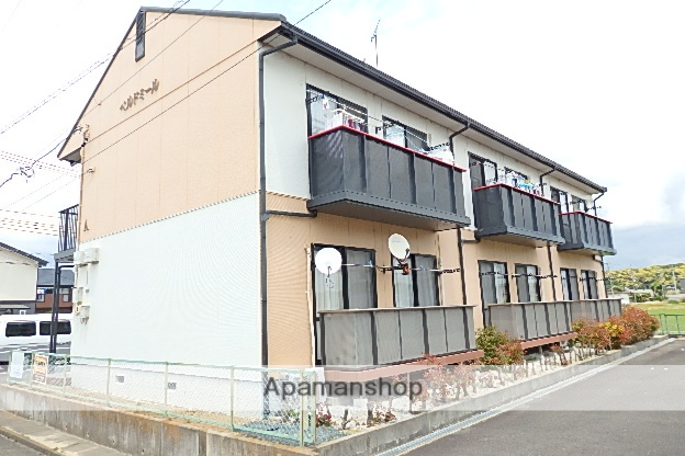 静岡県菊川市、菊川駅静鉄バスバス30分赤土下車後徒歩8分の築18年 2階建の賃貸アパート