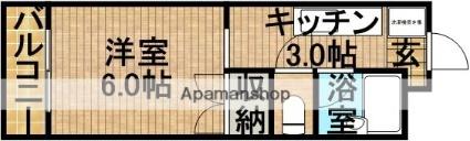 静岡県掛川市緑ケ丘2丁目[1K/20m2]の間取図