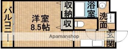 静岡県掛川市宮脇[1K/27.36m2]の間取図