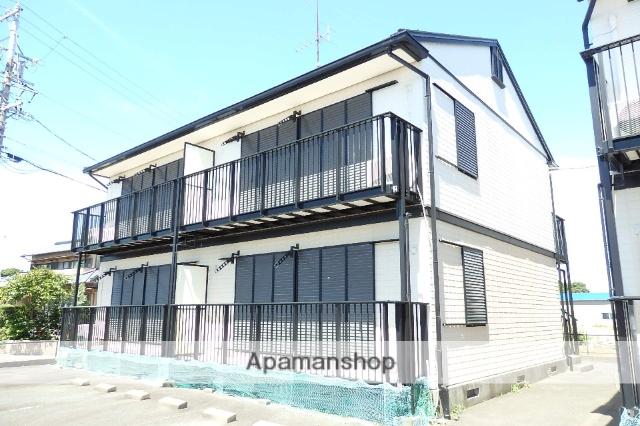 静岡県袋井市、袋井駅遠鉄バスバス15分上新池下車後徒歩10分の築20年 2階建の賃貸アパート