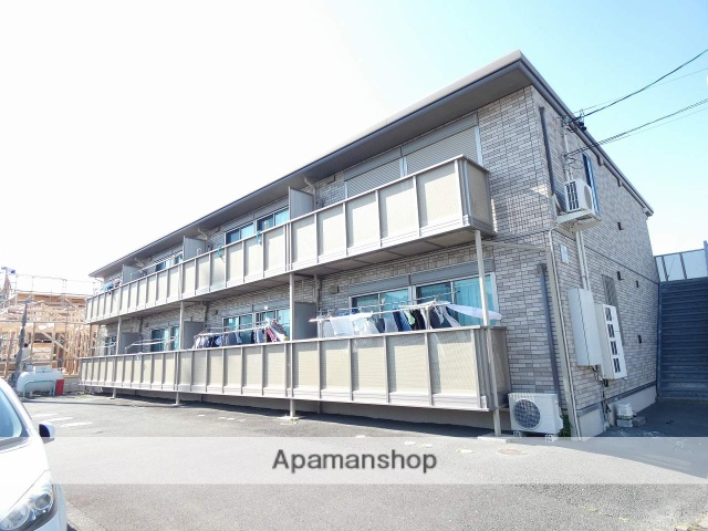 静岡県磐田市、磐田駅遠鉄バスバス14分中島東下車後徒歩21分の築10年 2階建の賃貸アパート