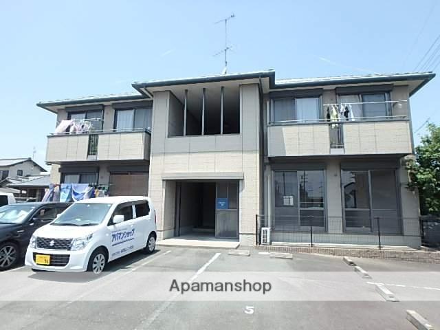静岡県磐田市、豊田町駅遠鉄バスバス10分とつか下車後徒歩10分の築17年 2階建の賃貸アパート