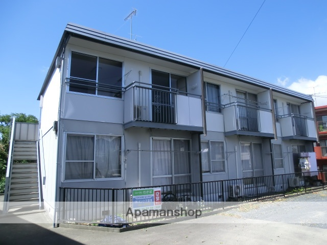 静岡県磐田市、磐田駅遠鉄バスバス20分富士見小下車後徒歩3分の築31年 2階建の賃貸アパート