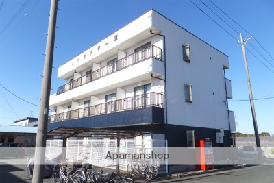 静岡県浜松市北区、常葉大学前駅遠鉄バスバス35分静光園下車後徒歩40分の築19年 3階建の賃貸アパート