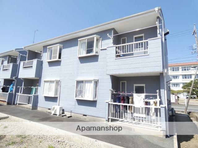 静岡県浜松市東区、浜松駅遠鉄バスバス35分与進小下車後徒歩3分の築26年 2階建の賃貸アパート