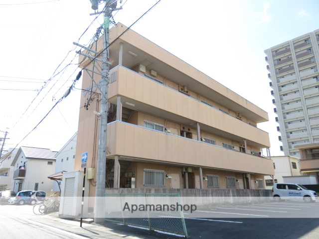 静岡県浜松市中区、浜松駅磐田山の手線バス15分相生下車後徒歩10分の築32年 3階建の賃貸アパート