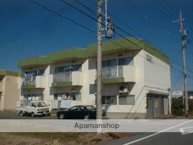 静岡県浜松市東区、浜松駅遠鉄バスバス20分有玉中下車後徒歩4分の築28年 2階建の賃貸アパート