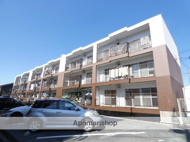 静岡県浜松市東区、天竜川駅徒歩22分の築35年 4階建の賃貸マンション