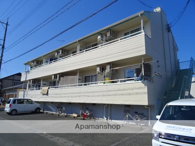 静岡県浜松市中区、浜松駅遠鉄バスバス30分葵西下車後徒歩2分の築28年 2階建の賃貸アパート