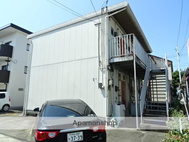 静岡県浜松市中区、浜松駅遠鉄バスバス12分鹿谷町下車後徒歩8分の築35年 2階建の賃貸アパート