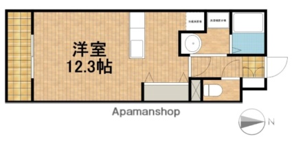 静岡県浜松市浜北区中条[1K/30.16m2]の間取図