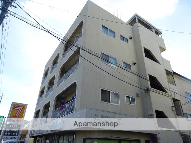 静岡県浜松市中区、浜松駅バス25分葵東下車後徒歩2分の築34年 4階建の賃貸アパート