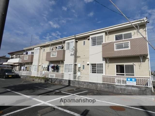 静岡県浜松市中区、浜松駅遠鉄バスバス20分下屋敷下車後徒歩4分の築25年 2階建の賃貸アパート