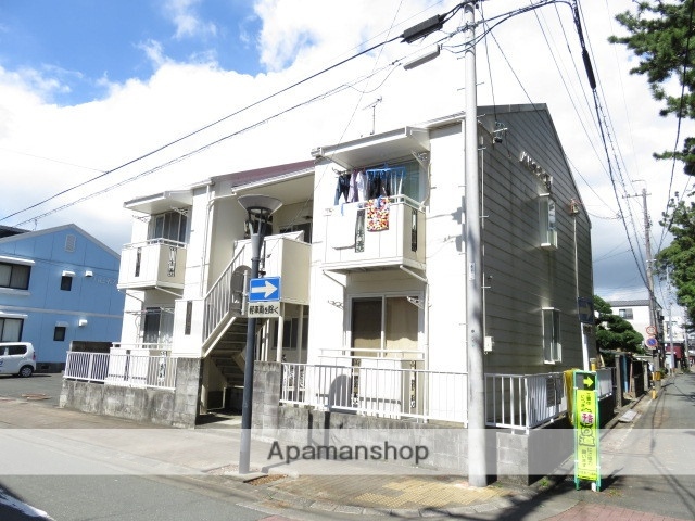 静岡県浜松市中区、浜松駅遠鉄バスバス2分遠州病院前下車後徒歩5分の築28年 2階建の賃貸アパート