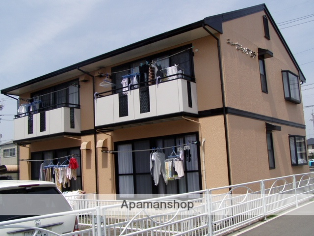 静岡県浜松市中区、浜松駅遠鉄バスバス10分新津町下車後徒歩2分の築23年 2階建の賃貸アパート