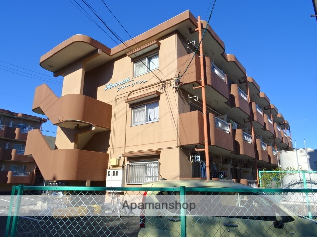 静岡県浜松市中区、浜松駅遠鉄バスバス32分エンケイ西下車後徒歩3分の築25年 3階建の賃貸マンション