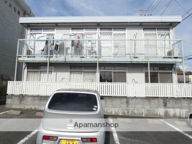静岡県浜松市中区、浜松駅遠州鉄道バスバス10分新津町下車後徒歩3分の築40年 2階建の賃貸アパート