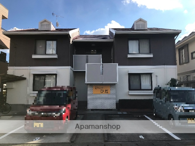 静岡県浜松市中区、浜松駅遠州鉄道バスバス25分グリーンタウン入口下車後徒歩2分の築29年 2階建の賃貸アパート