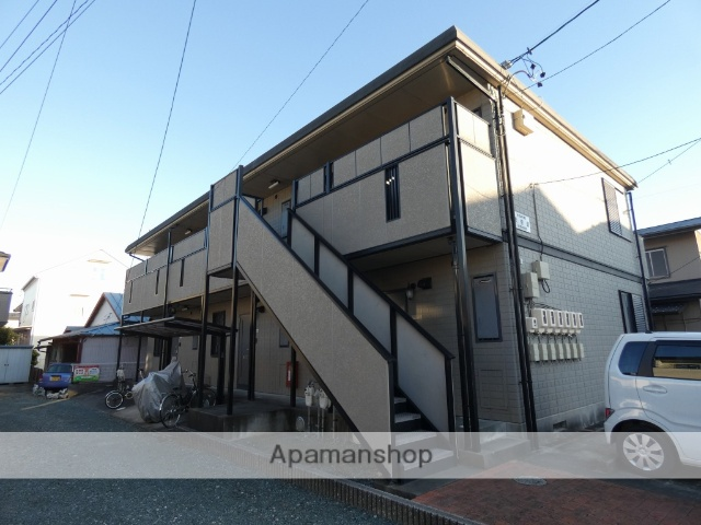 静岡県浜松市南区、浜松駅遠鉄バスバス8分浜松神社下車後徒歩3分の築18年 2階建の賃貸アパート