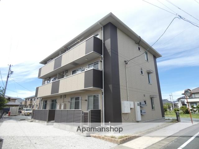 静岡県浜松市浜北区、遠州小松駅徒歩18分の築3年 3階建の賃貸アパート
