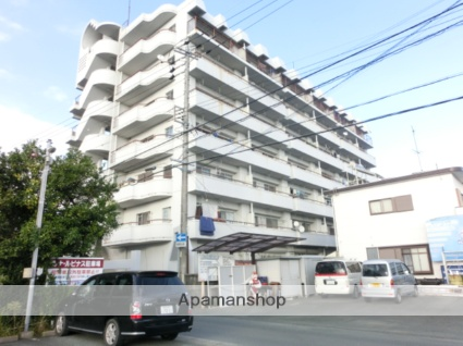 静岡県浜松市東区、天竜川駅徒歩16分の築33年 7階建の賃貸マンション