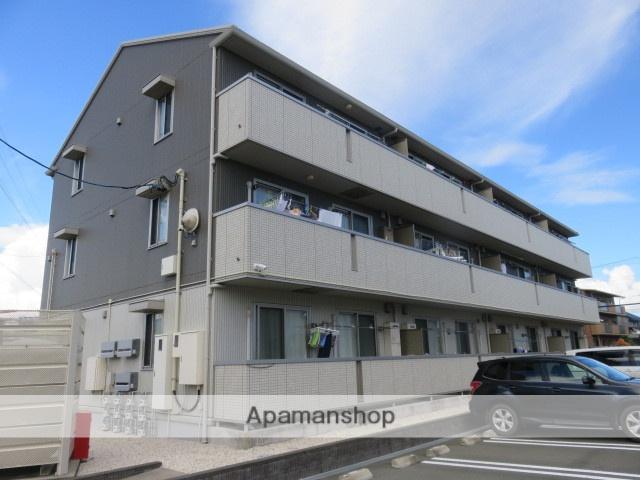静岡県浜松市南区、浜松駅遠鉄バスバス22分平安前下車後徒歩9分の築4年 3階建の賃貸アパート
