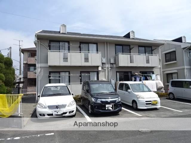 静岡県浜松市中区、浜松駅遠鉄バスバス23分上北下車後徒歩2分の築33年 2階建の賃貸アパート