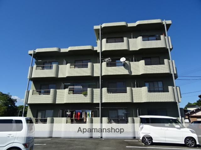静岡県浜松市中区、浜松駅バス45分花川下車後徒歩16分の築20年 4階建の賃貸マンション