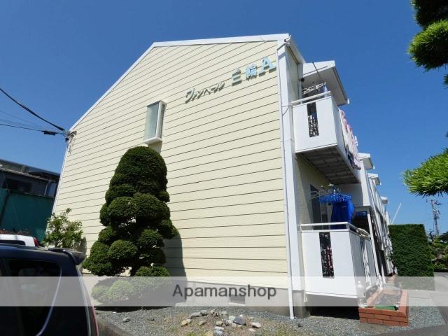 静岡県浜松市南区、浜松駅遠鉄バスバス16分本郷下車後徒歩4分の築30年 2階建の賃貸アパート