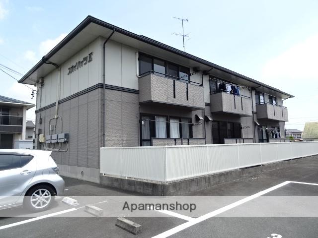 静岡県磐田市、豊田町駅ユーバスバス25分豊田西公民館下車後徒歩5分の築20年 2階建の賃貸アパート