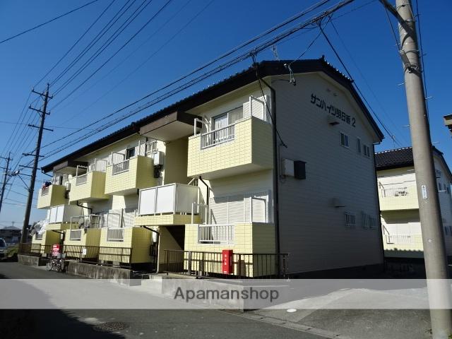 静岡県浜松市南区、浜松駅バス40分リズム前下車後徒歩3分の築30年 2階建の賃貸アパート
