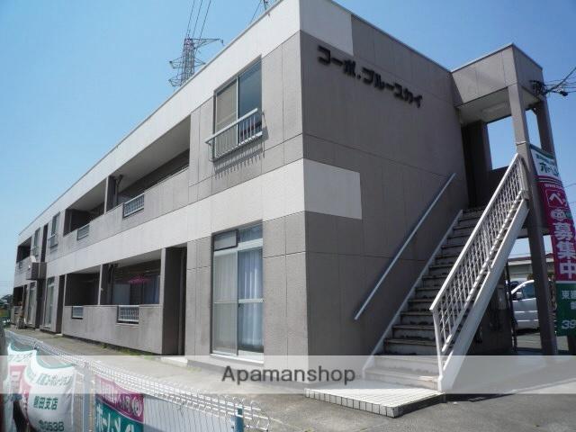 静岡県磐田市、豊田町駅遠鉄バスバス20分竜洋変電所下車後徒歩1分の築25年 2階建の賃貸アパート