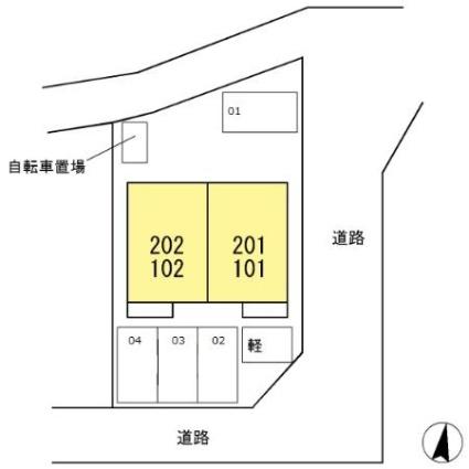 静岡県磐田市新貝[1LDK/31.94m2]の配置図