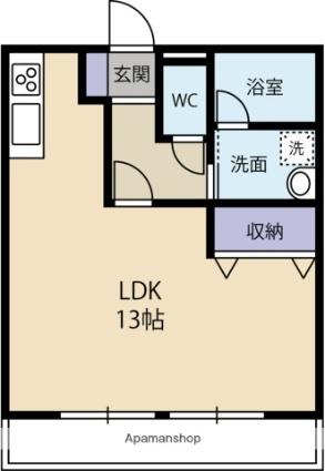 アヴォード笠井[1R/33.46m2]の間取図