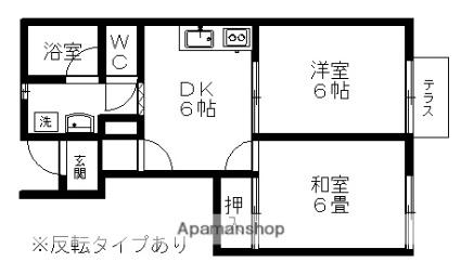 パティオ・ソレアード[2DK/40.99m2]の間取図