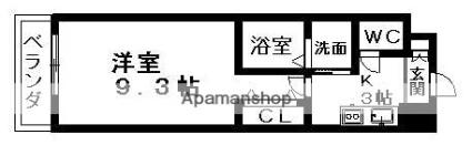 愛知県名古屋市千種区今池5丁目[1K/30m2]の間取図