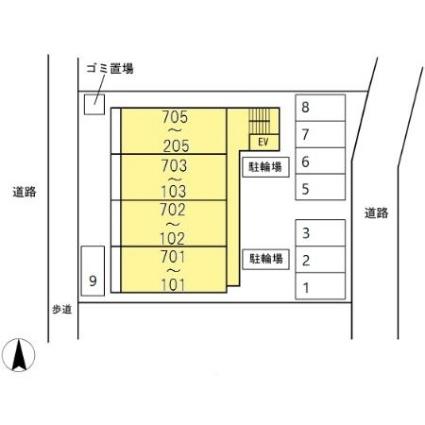 愛知県名古屋市瑞穂区瑞穂通6丁目[1LDK/40.99m2]の配置図