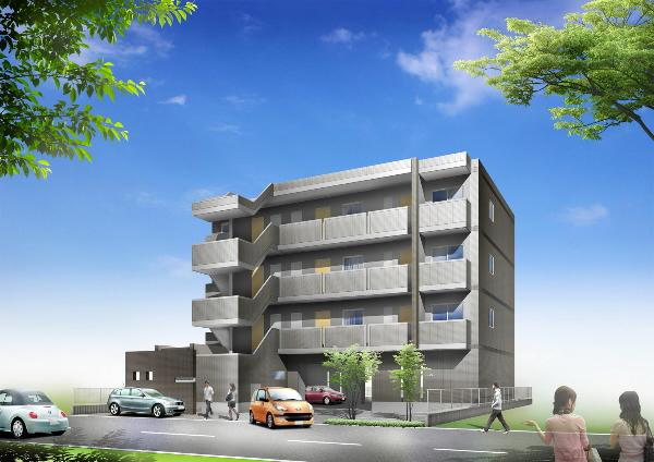 愛知県名古屋市北区、味美駅徒歩19分の築8年 4階建の賃貸マンション