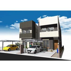 愛知県名古屋市千種区、覚王山駅徒歩16分の新築 2階建の賃貸一戸建て