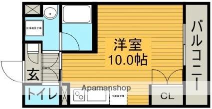 愛知県名古屋市名東区望が丘[1R/24.8m2]の間取図