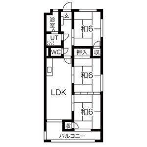 第3丸柴ビル[3LDK/58.27m2]の間取図