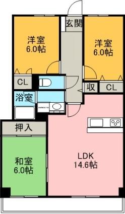 グランハート[3LDK/73.98m2]の間取図