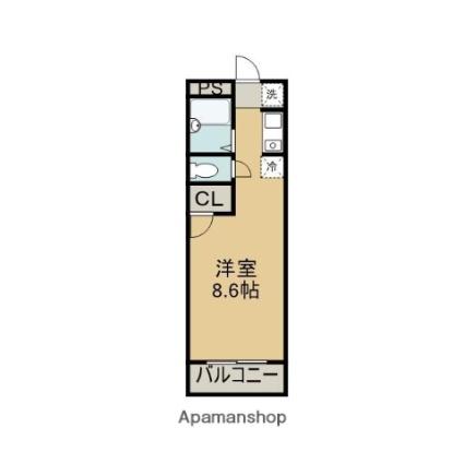 愛知県春日井市藤山台7丁目[1R/19m2]の間取図