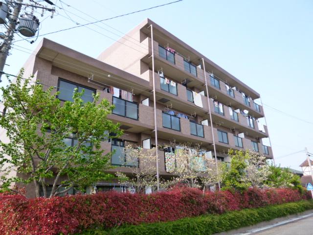 愛知県一宮市、二子駅徒歩15分の築22年 5階建の賃貸マンション