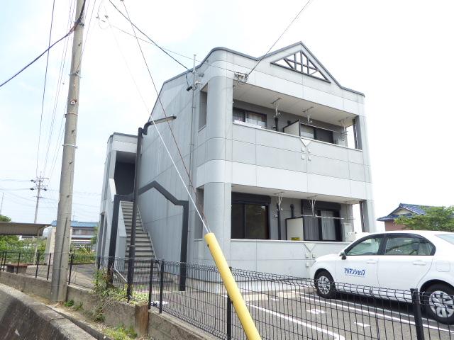 愛知県一宮市、尾張一宮駅名鉄バスバス23分九日市場下車後徒歩5分の築9年 2階建の賃貸アパート