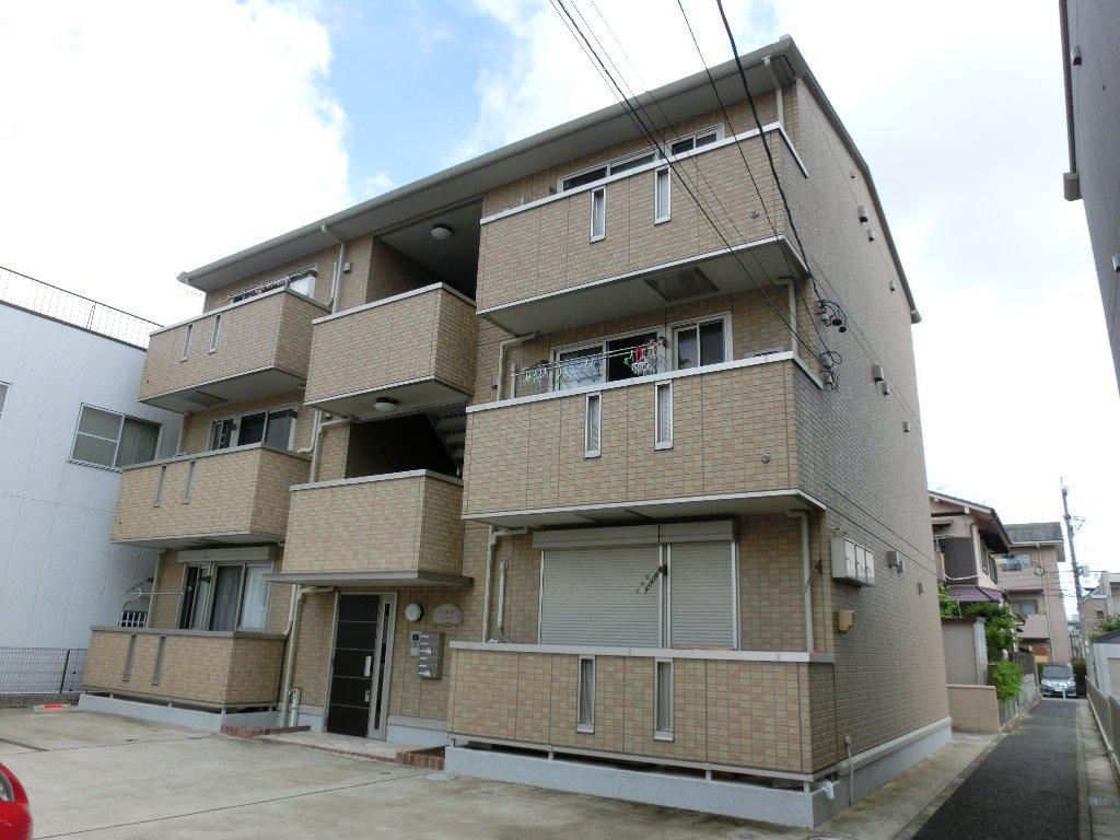 愛知県名古屋市北区、味鋺駅徒歩25分の築9年 3階建の賃貸アパート