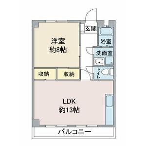 藤本コーポ[1LDK/50m2]の間取図