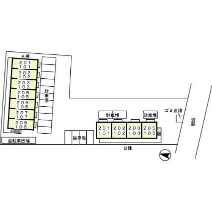 愛知県名古屋市守山区幸心3丁目[1K/30.13m2]の配置図