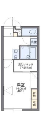 レオパレスハピネス[1K/23.18m2]の間取図